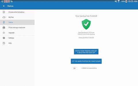 screenshot of 100 GB Free Cloud Drive Degoo version 1.19.8.170126