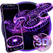 Download 3D Fidget Spinner Neon Hologram Theme 1.1.9 APK