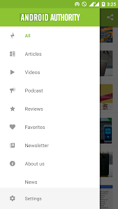 screenshot of AA App for Android™ version 20180821