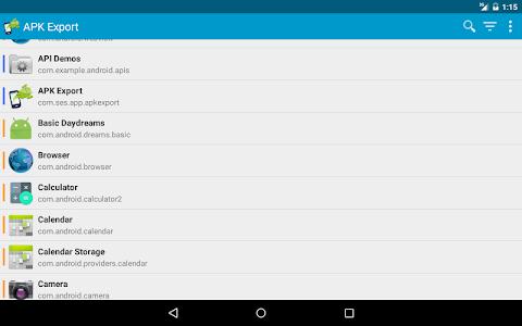 screenshot of APK Export (Backup & Share) version 3.2.4
