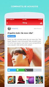 screenshot of ARMY BTS Amino em Português version 1.1.7620