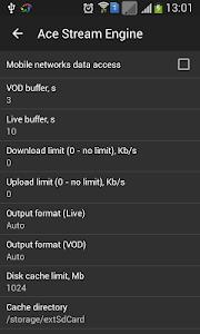 screenshot of Ace Stream Media version 3.1.31.1