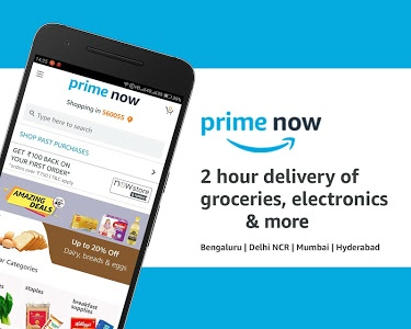 screenshot of Amazon Prime Now version Varies with device