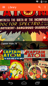 screenshot of Astonishing Comic Reader version 3.3
