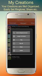 screenshot of Audio MP3 Cutter Mix Converter and Ringtone Maker version 1.72