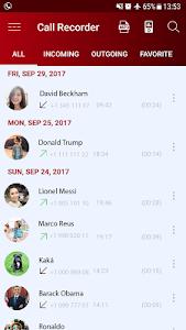 screenshot of Auto call recorder version 2.3.4