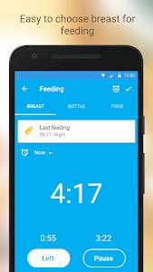 screenshot of Baby Breastfeeding Tracker. Newborn Baby Care App version 2.11.2