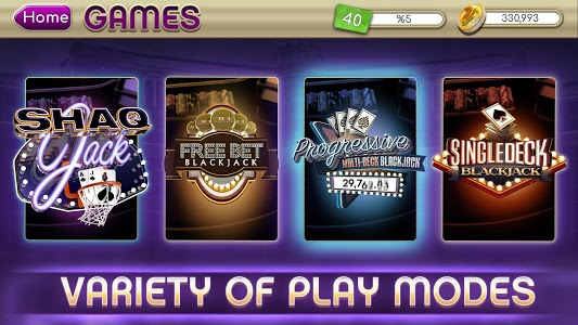 screenshot of myVEGAS Blackjack 21 - Free Vegas Casino Card Game version 1.21.0