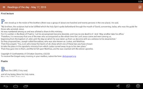 screenshot of Prayers, Bible & Rosary version 3.03