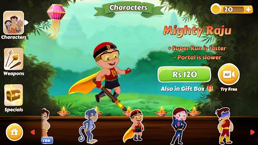 screenshot of Chhota Bheem Race Game version 2.0