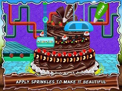 screenshot of Chocolate Wedding Cake Maker Factory version 1.3