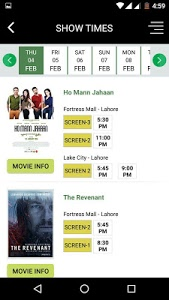screenshot of Cinepax - Buy Movie Tickets version 1.4
