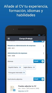 screenshot of CompuTrabajo Ofertas de Empleo version 1.12.4