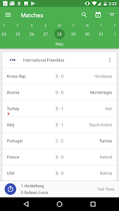 screenshot of CrowdScores - Live Scores & Stats version 3.7.5
