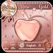 Download Crystal Apple Rose Gold - Music Keyboard Theme 10001009 APK