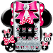 Download Cute minny pink Bow Silver Diamond Theme 1.1.9 APK