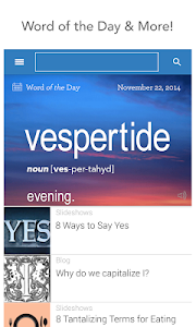 screenshot of Dictionary.com version 5.2.1