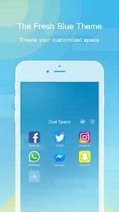 screenshot of Dual Space - Multi Accounts & Fresh Blue Theme version 1.2.7