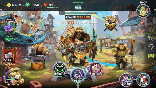 screenshot of Dungeon Legends version 2.11