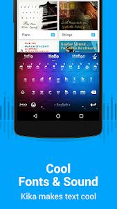 screenshot of Kika Emoji Keyboard Pro + GIFs version 3.4.187