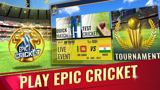 screenshot of Epic Cricket - Best Cricket Simulator 3D Game version 2.52