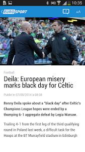 screenshot of Eurosport.com version 4.3