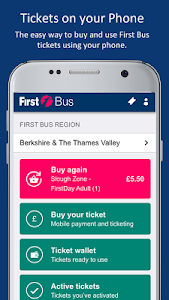 screenshot of First Bus m-Tickets version 9.2