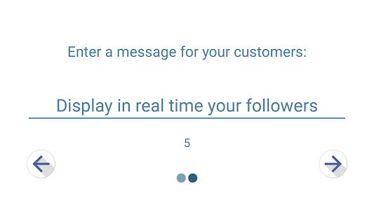 screenshot of Follower Counter version 1.0.2