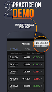 screenshot of Libertex Online Trading app version 2.14.0