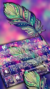 Download Galaxy Feather Keyboard Theme 1.0 APK