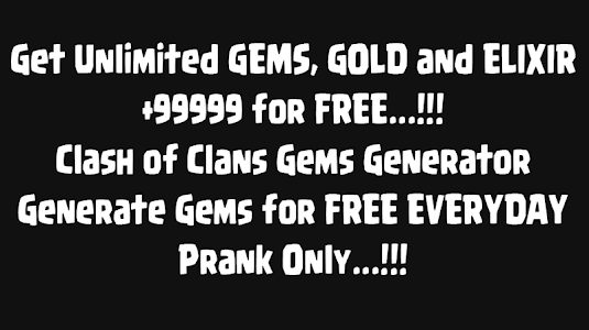 screenshot of Gems for Clash of Clans Prank version 2.3