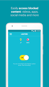 screenshot of Lantern: Better than a VPN version 4.6.14 (20180507.165817)