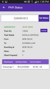 screenshot of Live Train Status version 29.0