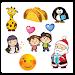 ❤️Love, ? Emoji & ?Cute Girl Stickers (10 packs)