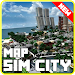 Download Map of Sim City for minecraft pe 1.0 APK