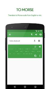 screenshot of M³ Translator: Morse code version 3.83