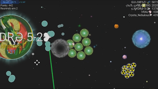 screenshot of Nebulous version 1.7.5.2