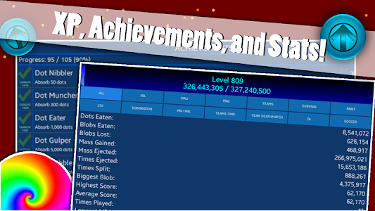 screenshot of Nebulous version 1.8.7