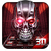 Download Neon Tech Skull 3D Theme 1.1.46 APK