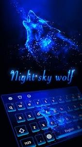 Download Night sky wolf Keyboard theme 10001002 APK
