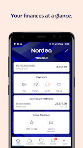 screenshot of Nordea Mobile – Sweden version Varies with device