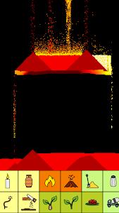 screenshot of sand:box - relaxing particle engine version 14.119 Llama