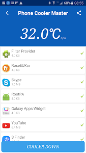 screenshot of Phone cooler master 2017 version 6.8