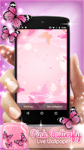 Download Pink Butterfly Live Wallpaper 4.0.1 APK