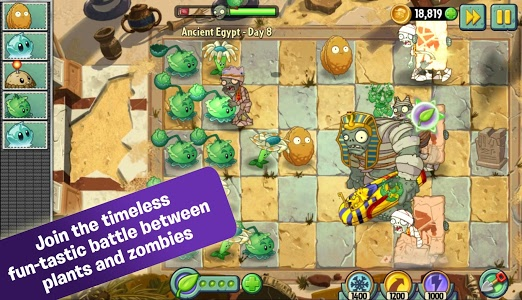 screenshot of Plants vs. Zombies™ 2 version 4.8.1