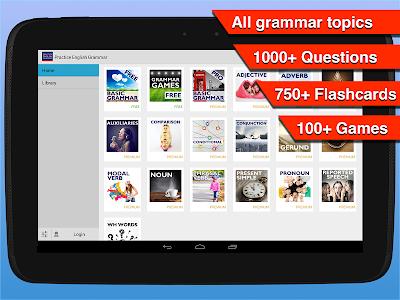 screenshot of Practice English Grammar version 1.2.3