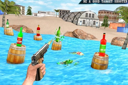 screenshot of Real Bottle Shooting Free Games version 2.0.4
