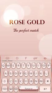 Download Rose Gold Keyboard Theme 1.6.4 APK