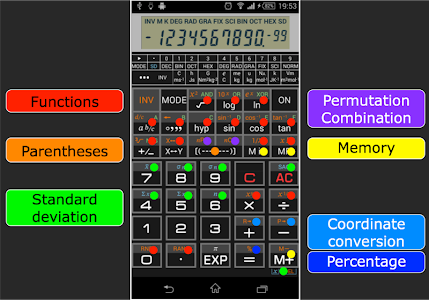 screenshot of Scientific Calculator 995 version 1.2.8