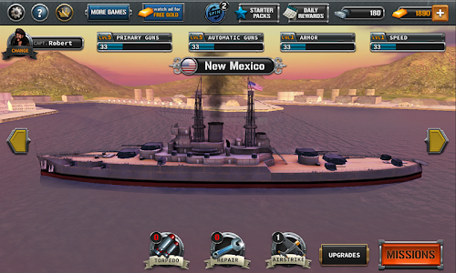 screenshot of Ships of Battle : The Pacific version 1.49